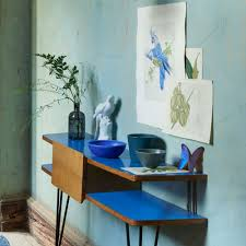 Blue Entryway Table by Small Hallway Ideas Ideal Home
