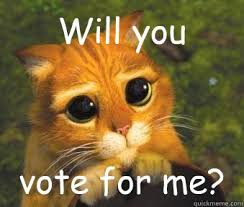 Vote For Me Meme - will you vote for me puss in boots quickmeme