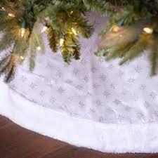 buy nest noel 48 quot white quilted velvet tree skirt with