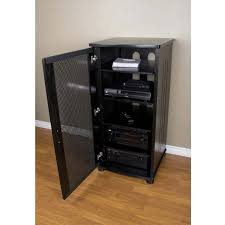 Audio Cabinets With Glass Doors Stereo Component Cabinet Zabliving