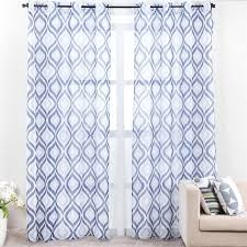 White And Blue Curtains Blue Sheer Curtains Teawing Co