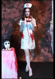wholesale horror screaming female blood dyeing nurses dress