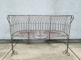 Antique Outdoor Benches For Sale by Italian Antique Wrought Iron Bench For Sale At 1stdibs