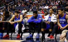 basketball player on bench editorial the philadelphia 76ers and tanking in the nba the