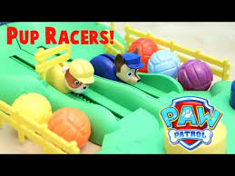 paw patrol pup racers game chase rubble toy reviews