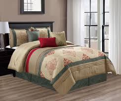 Red Gold Comforter Sets Piece Claret Gold Jade Red Comforter Set