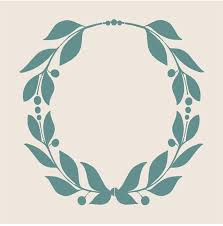 wreath stencil 6 sizes available create wreath signs and