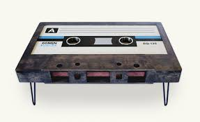 cassette tape coffee table for sale cassette tape table the awesomer
