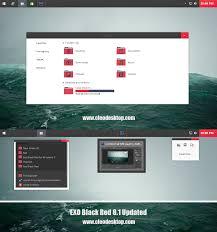 black themes windows 8 exo black red theme for windows 8 1 updated cleodesktop mod