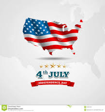 Independence Flag American Flag Map For Independence Day Stock Vector Image 32816331