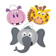 paper plate zoo animal craft kit orientaltrading com vbs camp