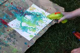 create paintings with waterguns diy network blog made remade
