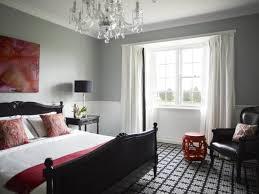 chambre a coucher noir et gris chambre gris et dcoration chambre adulte peinture murale