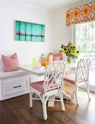 colorful dining bench pillows design ideas