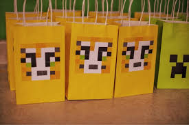 minecraft goody bags minecraft sty stcat goodie bags birthday party birthdays