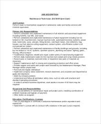 Maintenance Job Description Resume Maintenance Job Description Duties Maintenance Planner Wedding
