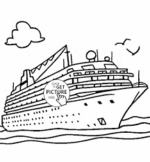 free printable space coloring pages coloring pages cruise ship coloring page for kids transportation