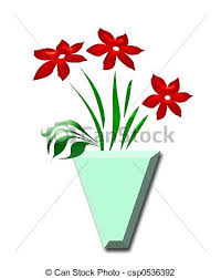 Clipart Vase Of Flowers Clip Art Of Red Flowers Vase Red Flowers In Green Vase