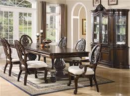 Solid Wood Formal Dining Room Sets Von Furniture Tabitha Formal Dining Room Set With Pedestal Table