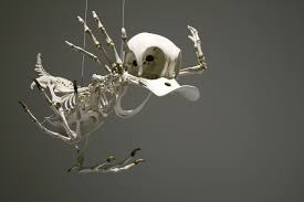 this is what the skeletons of famous cartoon characters would look