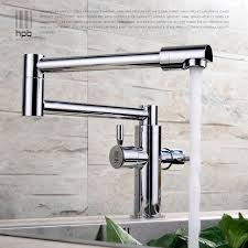 kitchen pot filler faucets hpb brass chrome deck mounted kitchen pot filler faucet sink