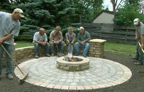 How To Lite A Fire Pit - how to build a round patio with a fire pit this old house