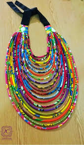 multi statement necklace images Multi strand african print statement necklace ankara statement jpg