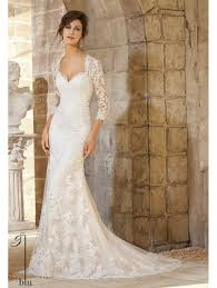 key back wedding dress mori 5372 ivory lace bridal gown with sleeves and key back