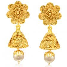 gold plated earrings purchase online sukkhi traditionally jalebi gold plated earring
