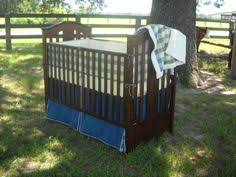 Denim Crib Bedding Denim Quilted Baby Crib Bedding By With Baby