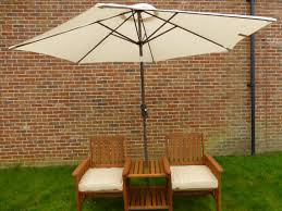 Garden Loveseat Heavy Duty Wooden Garden Loveseat With Parasol Hole Table And Set