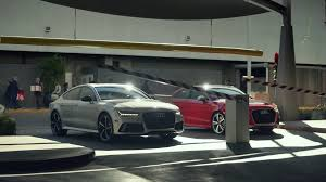 audi commercial super bowl audi rs3 and rs7 race for parking spots before holidays in