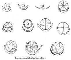 name tattoos with shooting sun and moon symbolism in literature