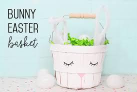 bunny easter basket bunny easter basket simple diy my s suitcase