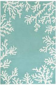 Coastal Indoor Outdoor Rugs Coral Fixation Area Rug Turquoise Indoor Outdoor Turquoise