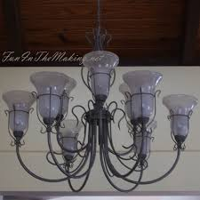 Diy Glass Chandelier Chandelier Make Over When Switching To Energy Efficient Light