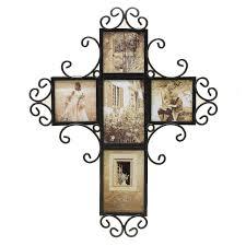 cross home decor fetco home decor tuscan alton five opening wall collage christian