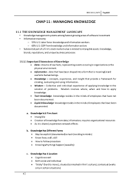 chapter 11 managing knowledge mis