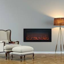 touchstone 80013 sideline steel recessed electric fireplace 1500w