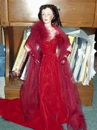 Gone With The Wind Curtain Dress Franklin Mint Scarlett Red Dress Jpg