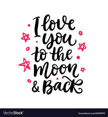 i you to the moon and back royalty free vector image