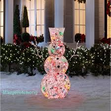 Outdoor Lighted Snowman Lighted Outdoor Snowman Sacharoff Decoration