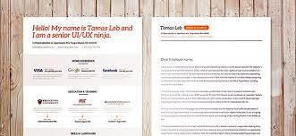 free psd visual resume template free psd files