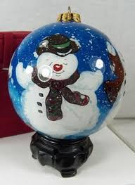 reverse painted inner art glass balls rose buy christmas