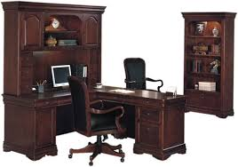 L Shaped Office Desk With Hutch Computer L Desk With Hutch And File Bookcase Ru Cabernet Right
