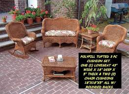 Thick Patio Furniture Cushions Outdoor Replacement Chair Cushions