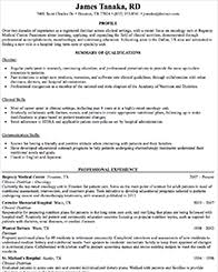 Sample Dietitian Resume by Resume Writing For Dietitians