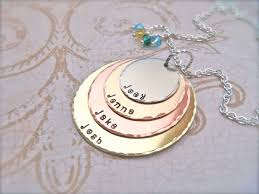 personalized family necklace personalized mothers day necklace accordion necklace