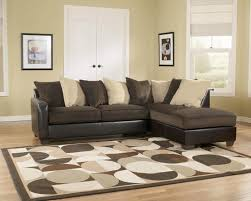 leather and microfiber sectional sofa poundex dante white bonded leather sectional sofa in los cream color