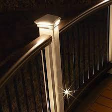 Trex Lighting Led Pyramid Post Cap Light By Trex Deck Lighting Decksdirect